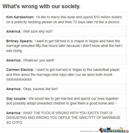America's Take On Marriage.