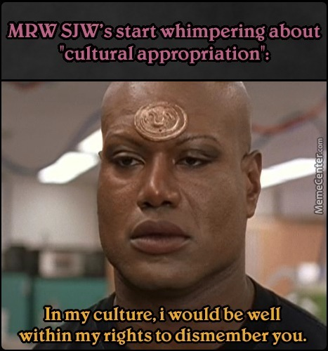 'cause Seperation Of Culture Is Apparently Equality Now! F**king Shoot Me...