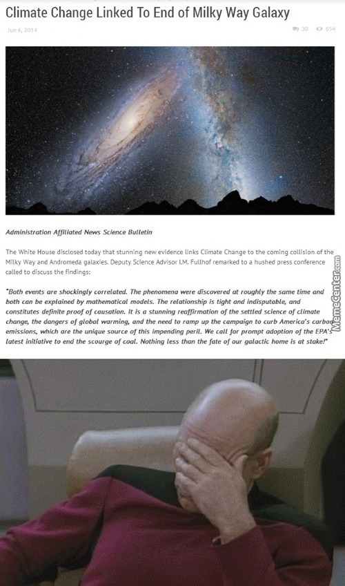 """climate Change To Destroy Milky Way"""