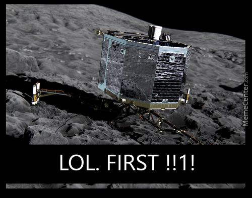 """first"" Landing On A Comet"