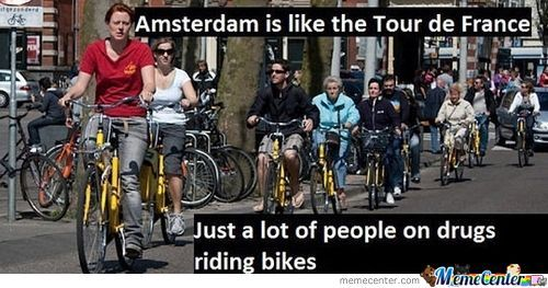 Amsterdam Is Like The Tour De France
