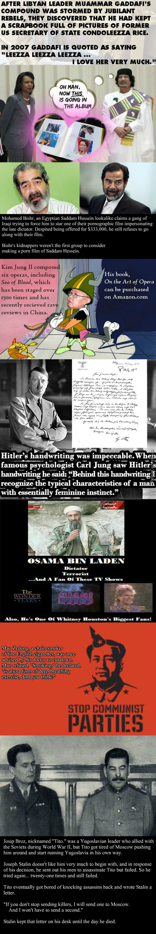 Amusing Facts About Dictators