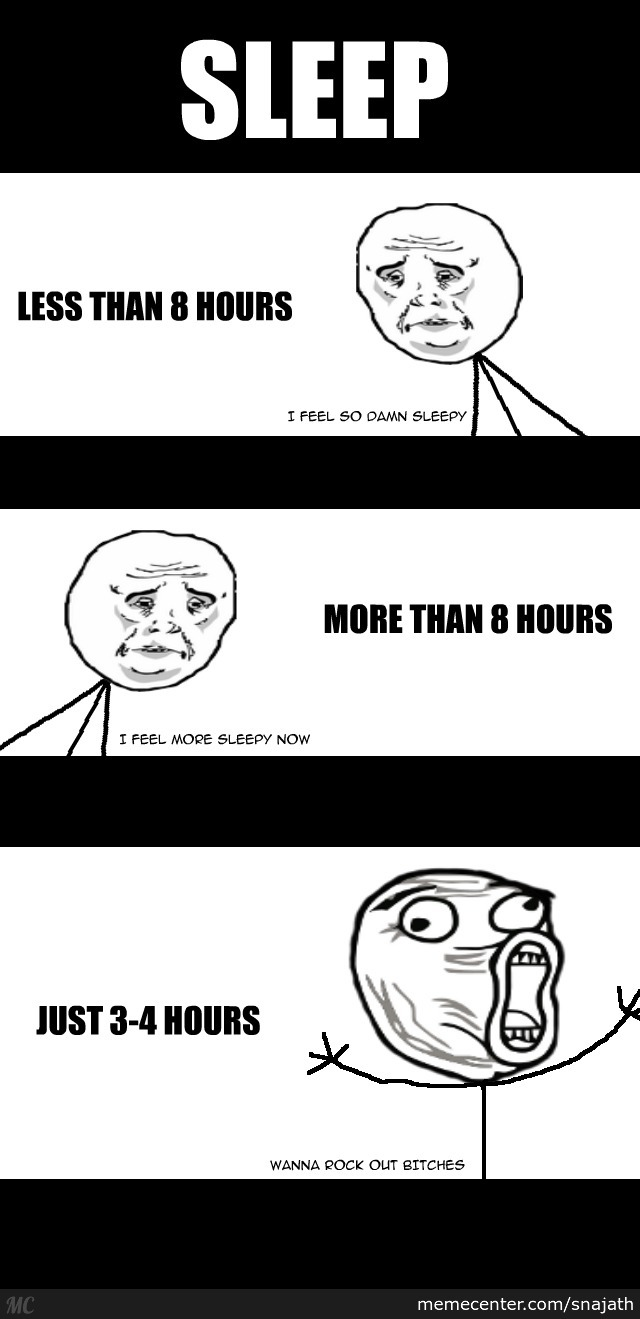 An Illustrated Rage Comic On Sleep, Accurate Right?
