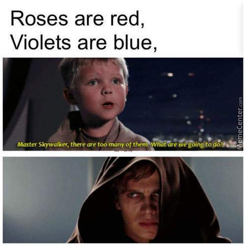Anakins Face Fits Perfectly To How Most People Would React To This Poem