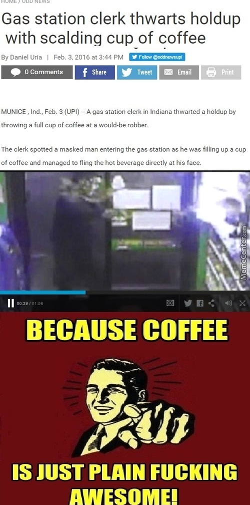 And I Thought The Robber Was The One Doing The Mug-Ing
