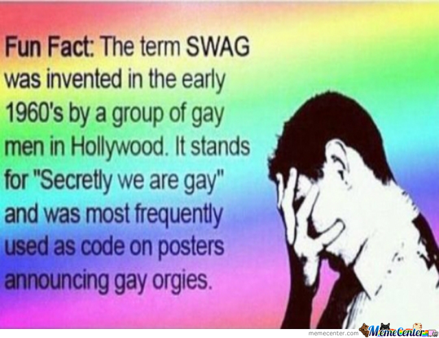 And Little Kids Still Think Swag Means Style...