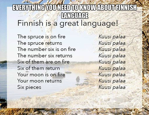 And People Say Finnish Is A Complicated Language...
