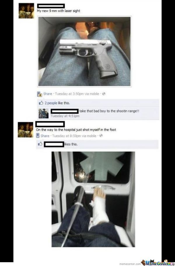 And That Is Why Not Every Retard Should Be Able To Buy A Gun