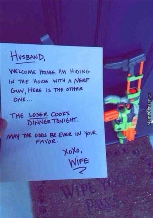 And The Wife Of The Year Award Goes To......
