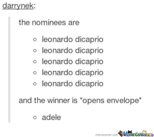 And The Winner Is....