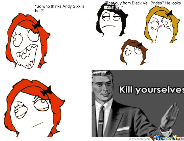 Andy Sixx Is A Girl? Kill Yourselves.