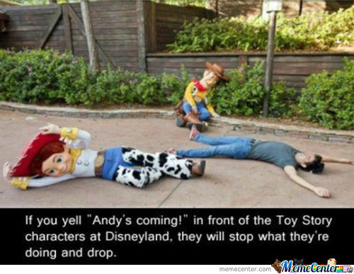Andys Toys At Disney Land