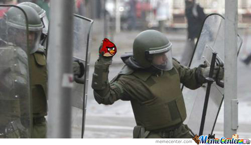 Angry Birds Are Awesome Weapons!