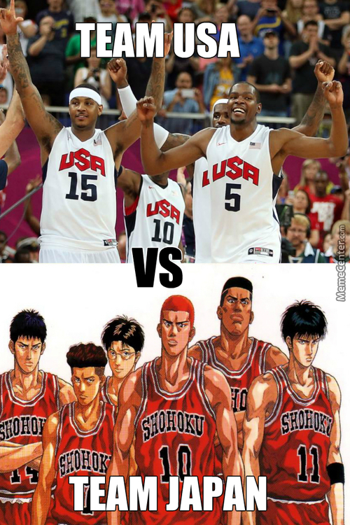 Anime's Dream Team (Anime:slam Dunk)