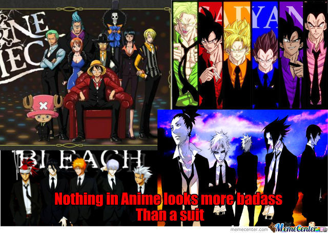 Anime Characters In Suits : Anime characters in suits by nefarious crow meme center