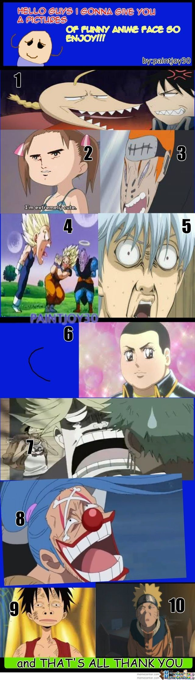 Anime Funny Faces