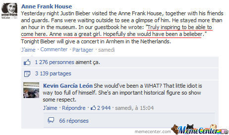 Anne Frank Would've Been A Belieber