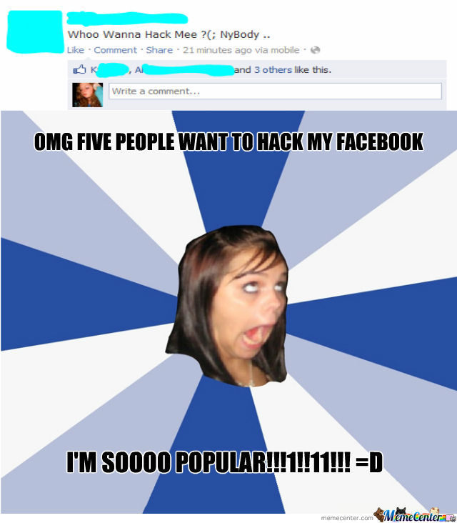 Annoying Facebook Girl Strikes Again