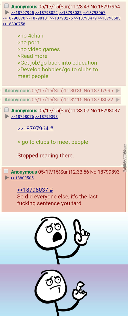 Anon Explains How To Live A Happy Life
