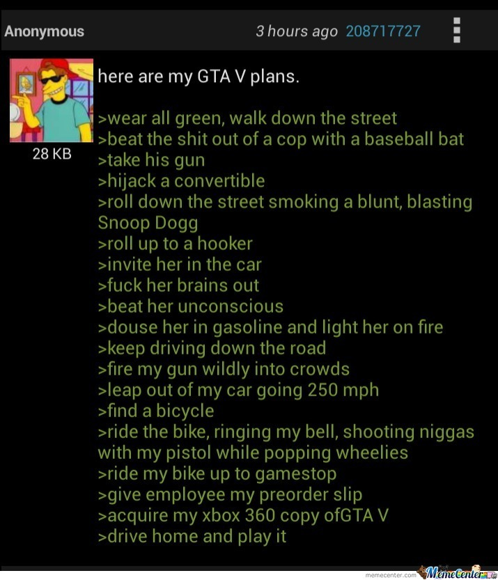 Anon Is Ready For Gta V