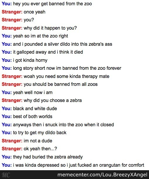 Funniest Meme Conversations : Another funny omegle conversation by lou eezyxangel