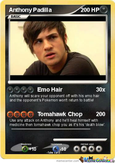 Anthony Padilla Pokemon Card