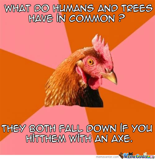 Anti-Joke Chicken Strikes Again!