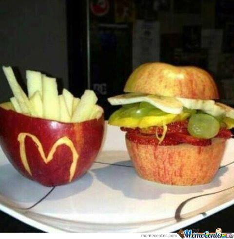 Apple Fries & Fruit Burger