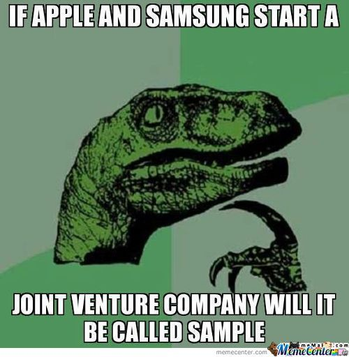 Apple+Samsung=Sample