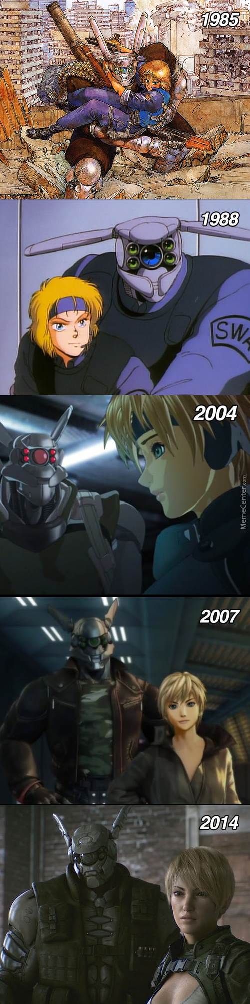 Appleseed Characters Through The Years