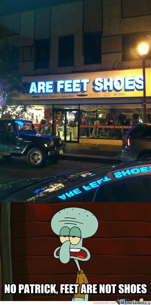 Are Feet Shoes?