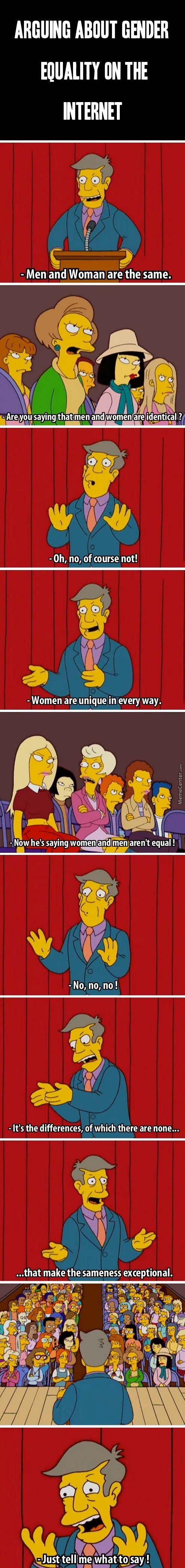 Arguing About Gender Equality On The Internet