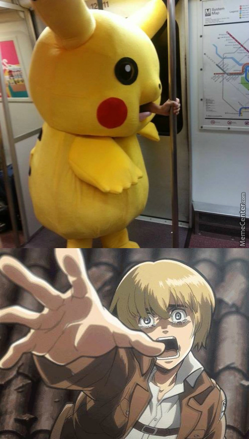 Armin Forgot To Hold Onto A Pole When The Train Stopped