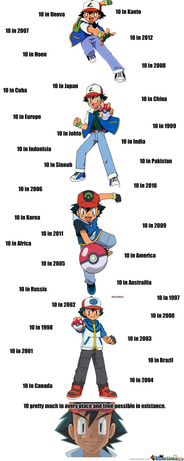 Ash Ketchum, Forever A 10, Not Sure If Blessing Or Curse.
