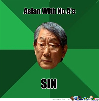 Asian With No A's