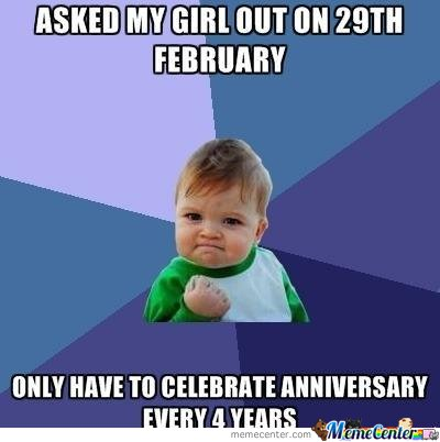Asked My Girl Out On 29Th February