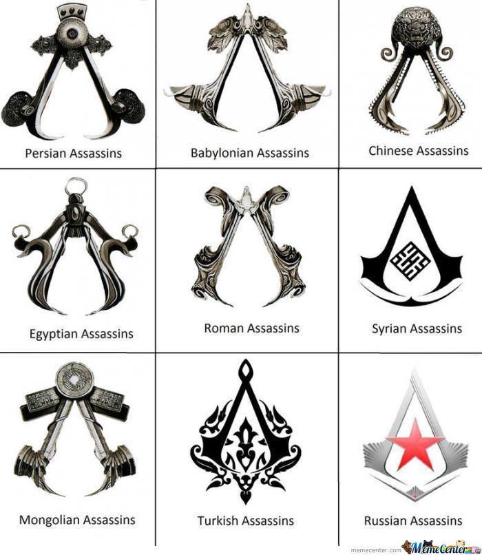 Assasins Creed Logo Around The World