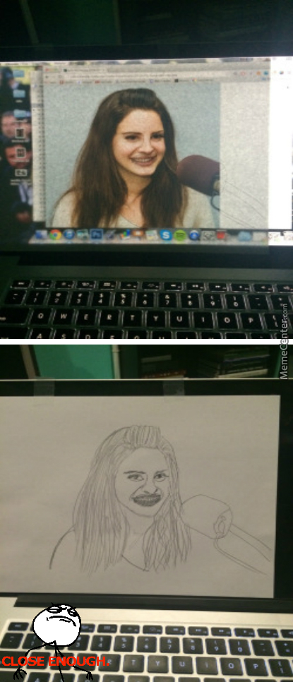 Attempting To Make A More Realistic Drawing By Tracing, Nailed It!