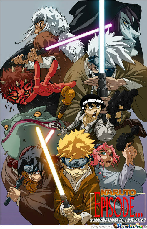 Awesome Naruto/star Wars Crossover (Credits To Original Artist)
