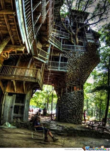 Awesome Tree House Is Awesome!...