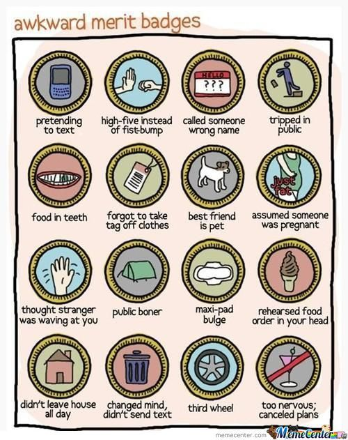 Awkward Merit Badges
