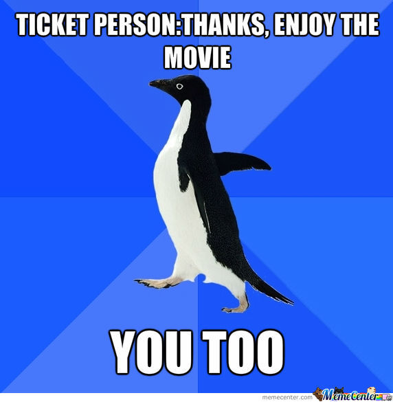Awkwardness At Movies