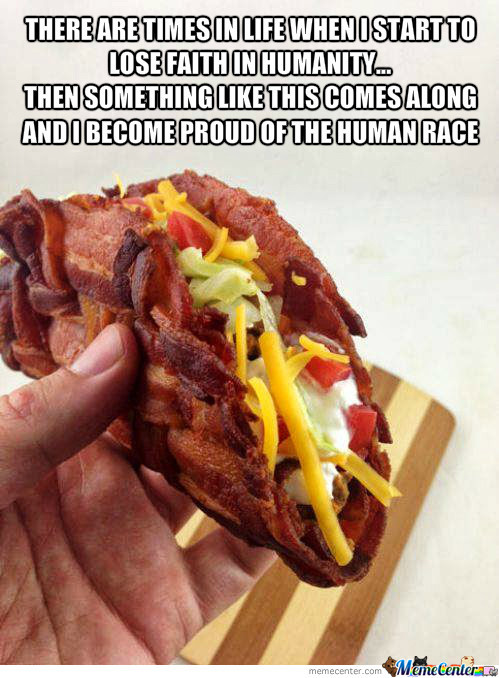 Bacon Weaved Taco