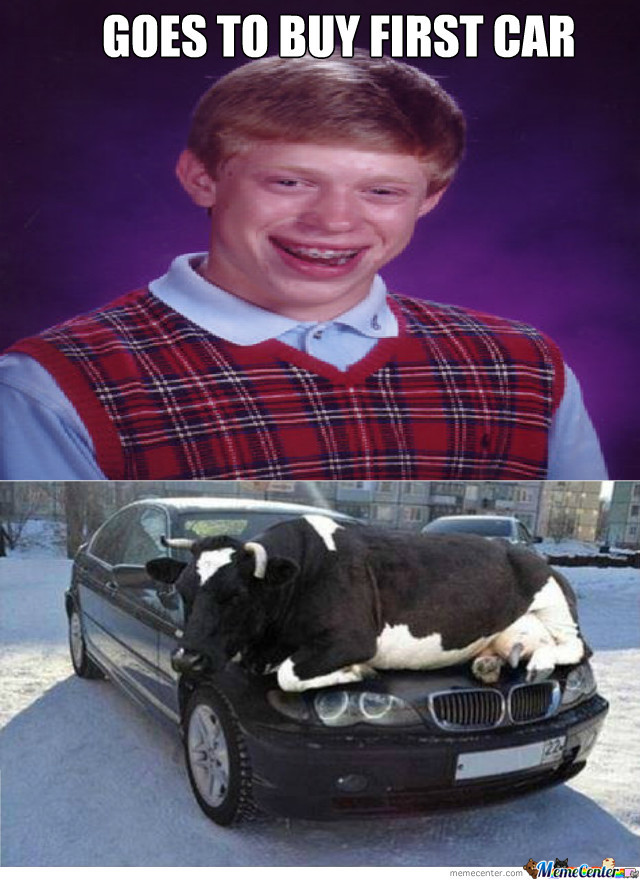 Bad Luck Brian's First Car!