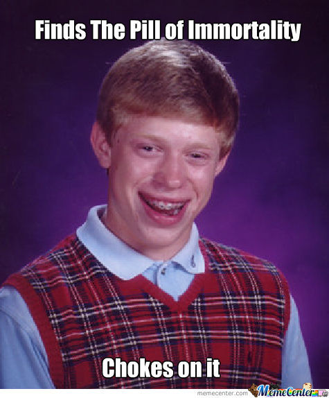 Bad Luck Brian Chokes Again...