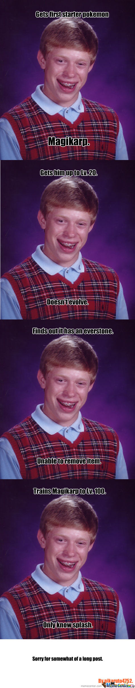 Bad Luck Brian Plays Pokemon