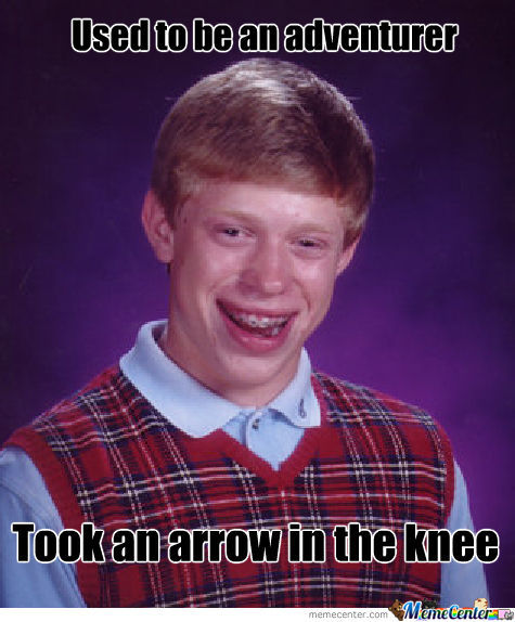 Bad Luck Brian Skyrim