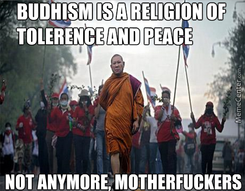 Badass Budhist Monk Is Tired Of Peace And Tolerence