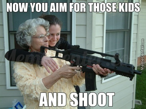 Badass Granny Doesn't Give A Fuck
