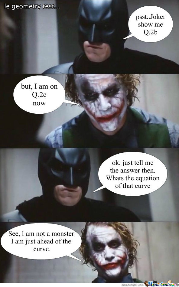 Badass Joker Is Good At Geometry